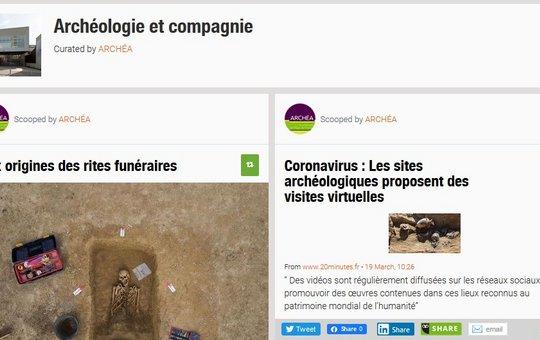 Scoop.it! : suivez toute l'actualité de l'archéologie grâce à la documentaliste d'ARCHÉA